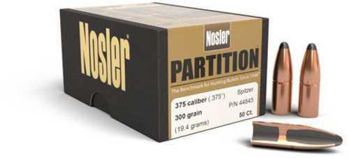 Nosler Partition Spitzer 375 Caliber 300 Grain 50/Box