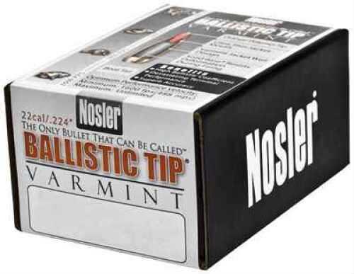 Nosler 22 Caliber .224 50 Grains Spitzer Ballistic Tip Varmint Per 100 Md: 39522 Bullets