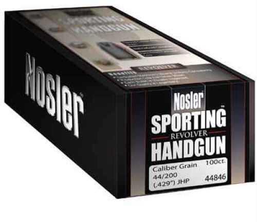 Nosler Jacketed Hollow Point Handgun Bullet 44 Cal 200 Grain 250/Box Md: 44846