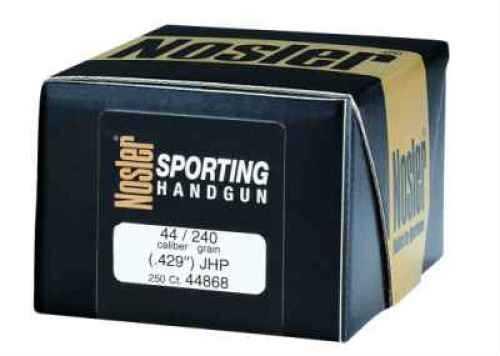 Nosler Jacketed Soft Point Handgun Bullet 44 Cal 240 Grain 250/Box Md: 44868