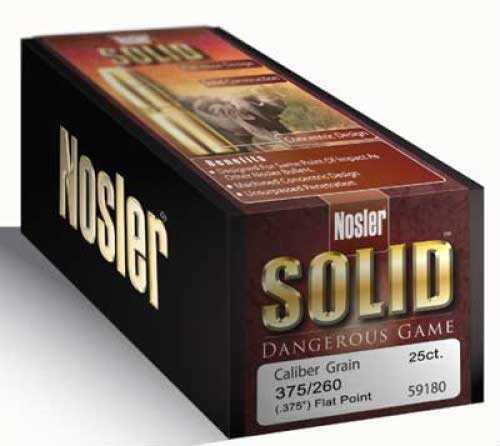 Nosler 375 Cal. 300 Gr. FP Per 25 Md: 28451 Solid Bullets