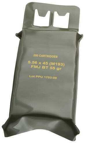 Prvi Partizan  Mil-Spec M193 Battle Pack 5.56 Nato / 223 Remington Ammo 55 Grains Full Metal Jacket Boat Tail 200 Rounds