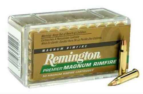 Remington Ammunition PR17HM1 Premier Gold Box Rimfire 17 HMR 17 GR Accu Tip-V 50 Box