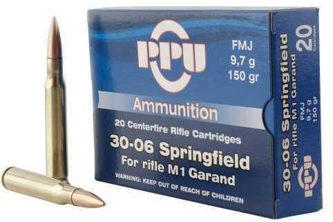 Prvi Partizan Standard Rifle 30-06 Springfield 150 Grains Full Metal Jacket 20 Box