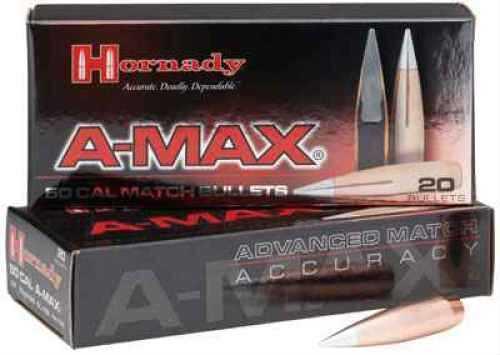 "Hornady A-Max 6.5mm .264"" 120 Grain Bullet Per 100 Md: 26172"