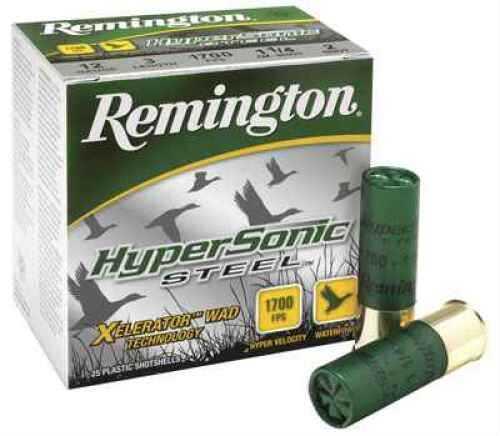 "Remington Hypersonic Steel 12 Gauge 3"" 1.25 Oz 2-Shot Per 25 Md: HSS12M2"