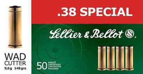38 Special 158 Grain FMJ Sellier&Bellot 50 Rounds Ammunition