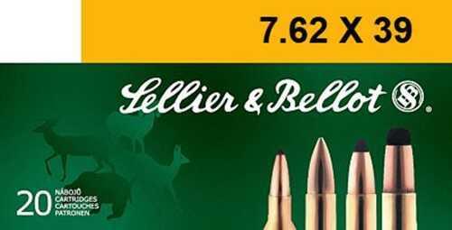 Sellier & Bellot Rifle 7.62X39 123 Grain Soft Point 20 Round Box SB76239B