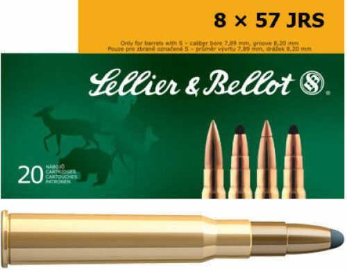 Sellier & Bellot SB857JRSA Rifle 8x57mm JRS 196 GR Soft Point Cut-Through Edge (SPCE) 20 Box