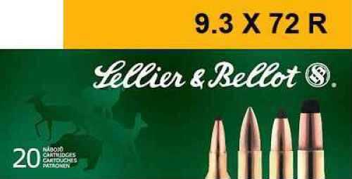 Sellier & Bellot SB9372RA Rifle 9.3mmX72R 193 GR Soft Point (SP) 20 Box