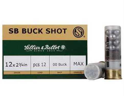 """00 Buck 12 Gauge 2.75"""" 9 Pellet Sellier & Bellot 10 Box Ammunition"""