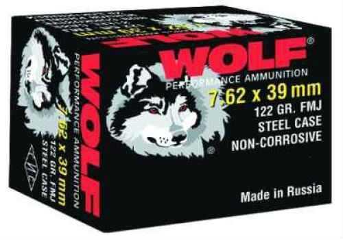 Wolf 7.62MM X 39MM 122 Grain Full Metal Jacket Bi Metal 1000 Rounds Ammunition Md: 7.62BFMJ