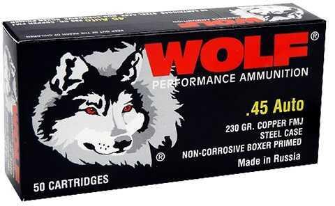 Wolf 45FMJ PolyFormance 45 ACP 230 GR Full Metal Jacket (FMJ) 50 Box