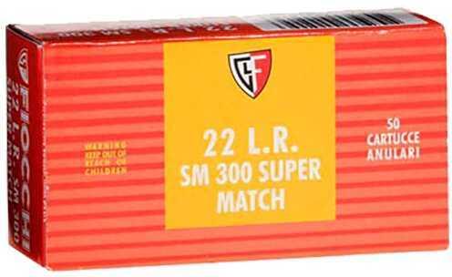 Fiocchi Super Match 22 Long Rifle Lead Round Nose 40 Grain 50 Rounds 33Sm300