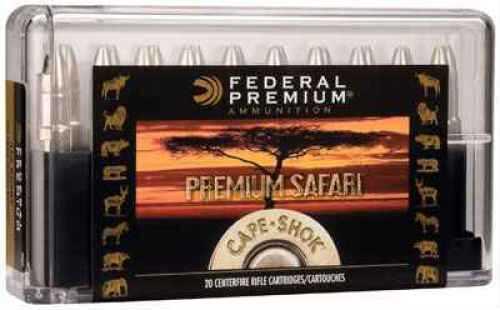 Federal P500NSA Premium Safari Cape-Shok 500 Nitro Express 570 GR Swift A-Frame (SWFR) 20 Box