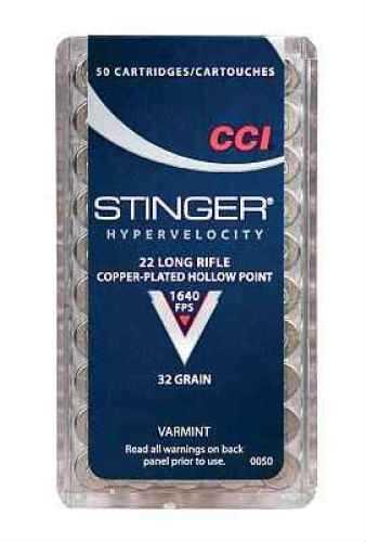 22 Long Rifle By CCI LR Stinger HP Per 50 Ammunition Md: 0050