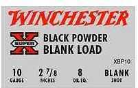 Winchester 10 Gauge Black Powder Blank 250 Rounds Per Case Ammunition Md: XBP10