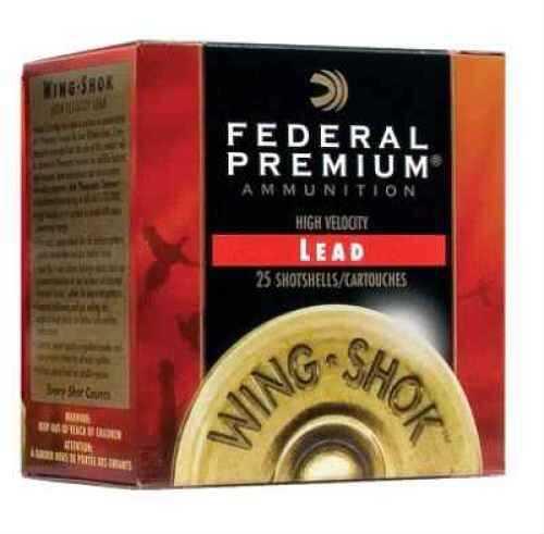 "Federal Wing Shok 20 Gauge 3"" 1 1/4 Oz #6 Lead Shot Ammunition Md: P2586 Case Price 250 Rounds"