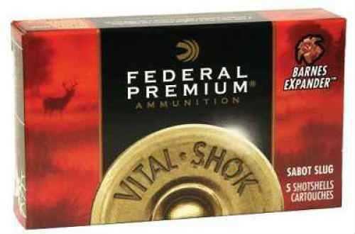 """Federal 12 Gauge Expander Sabot Slug Premium Barnes Expander 2-3/4"""" 1Oz Sabot Ammunition Md: P150XS"""