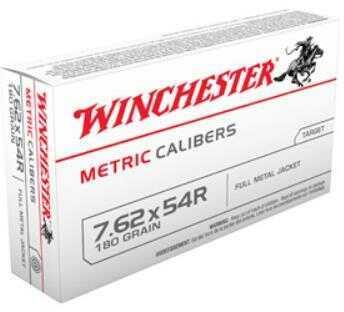 Winchester 7.62X54 Russian Metric 180 Grain Full Metal Jacket Bullet 20 Rounds Per Box Ammunition Md: Mc7.6254R