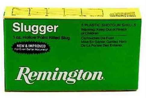 "12 Ga 1 Oz Lead Slug 2 3/4"" Magnum Remington Sluger 5 Rounds Ammunition"