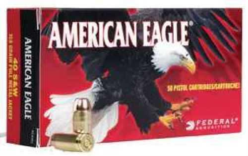Federal American Eagle 40SW 155 Grain FMJ 50 Rds Ammunition AE40R2