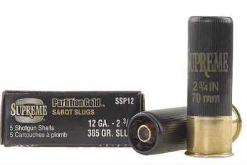 """Partition Gold Sabot Slugs By Winchester 12 Gauge 2 3/4"""" 385Gr. Per 5 Ammunition Md: SSP12"""