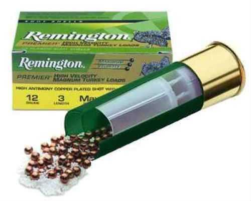 "Remington Premier High Velocity Magnum Turkey 12 Ga. 3"" #5 Copper Plated Lead 10 Rounds Per Box Ammunition Md: PHV12M5"