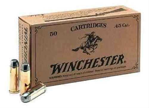 Winchester Ammo USA45CB Super-X 45 Colt (LC) 250 GR Lead Flat Nose 50 Box