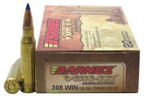 Barnes VOR-Tx 308 Winchester Per 20 TTSX-BT, 150 Grain Md ...