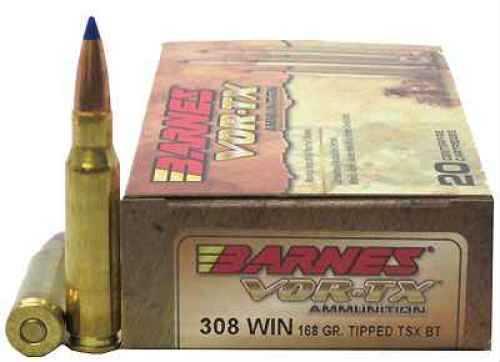 Barnes VOR-Tx 308 Winchester Per 20 TTSX-BT, 168 Grain Md ...