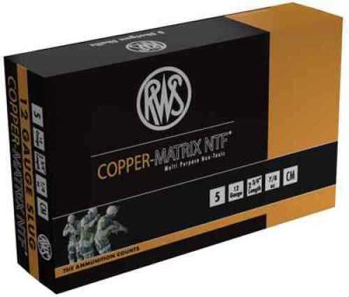 "Ruag Ammotec USA Inc CMSlug Copper Matrix NTF 00 Buck/Slug 12 ga 2.75"" 5/Box"