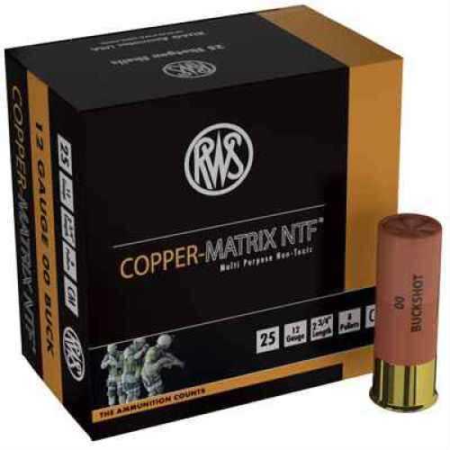 "Ruag Ammotec USA Inc CM00 Copper Matrix NTF 00 Buck/Slug 12 ga 2.7"" 25/Box"