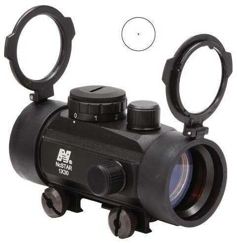 NCStar DBB130 Tube1X 30mm Obj Unlmtd Eye Relief 3 MOA Red Dot Wvr Mnt Black