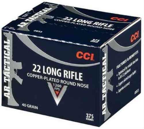 22LR CCI Tactical 40 Grain Copper Plated 375 Rounds Ammunition
