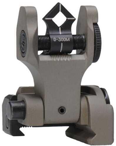 AR-15 Troy DoaRFFT00 Battle Sight Rear Di-Optic Aperture (Doa) Folding Universal Flat
