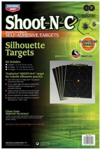 "Birchwood Casey Shoot-N-C Targets: Silhouette So-5 12"" X 18"" Silhouette 5 Pack Md: 34605"