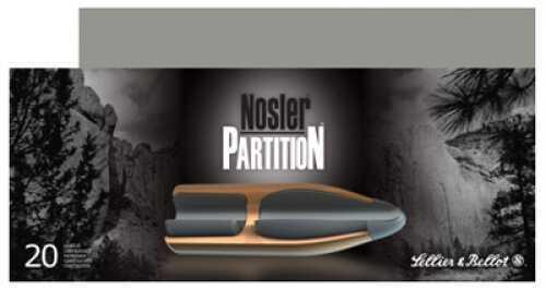 Sellier & Bellot 30-06 Springfield 180 Grain Nosler Partition 20/Bx (20 rounds Per Box)
