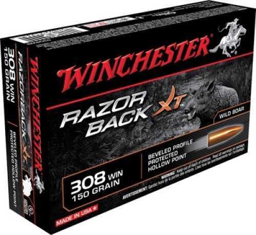 Winchester Razorback XT 308 150 Grain 20 Box
