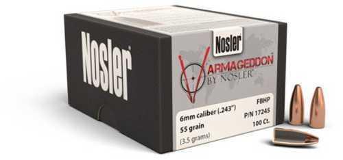 Nosler 17245 Varmagddn 6mm 55Gr Fbh 100