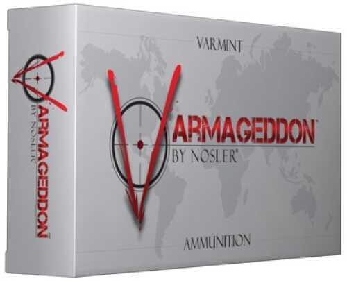 Nosler 65105 Varmageddon 17 Remington Flat Base Tip 20 Grain 20Rds