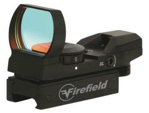 Firefield FF13004 Reflex 1x 33mm Obj Unlimited Eye Relief Multi-Reticle Blk