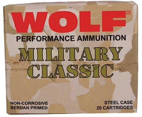 Wolf Military 30-06 Springfield Full Metal Jacket 168 Grain Ammunition, 500 Rounds Per Box Md: MC3006FMJ168