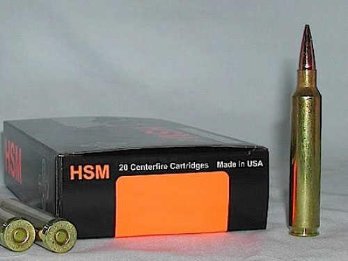 HSM Ber7WSM168VL Trophy Gold 7mm Winchester Short Magnum BTHP 168 Grain 20Rds