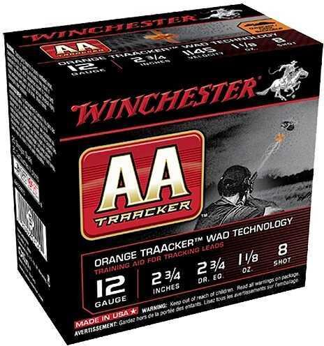 "Winchester AA Target Tracker 12 Gauge 2.75"" 8 Shot 1-1/8 Oz Orange 250 Rounds (Case Price) Ammuntion"