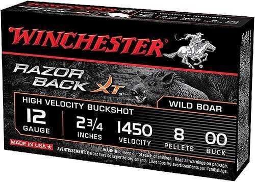 "Winchester Ammunition Razorback XT 12 Gauge 2.75"" Buckshot 5 Round Box S12RB00"
