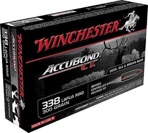 Winchester ACUBOND CT 338 LAPUA 300 Grain Act 20/Bx