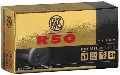 RWS 22 Long Rifle Ammo C-Class 40 Grain 50 Rounds Per Box 2134187