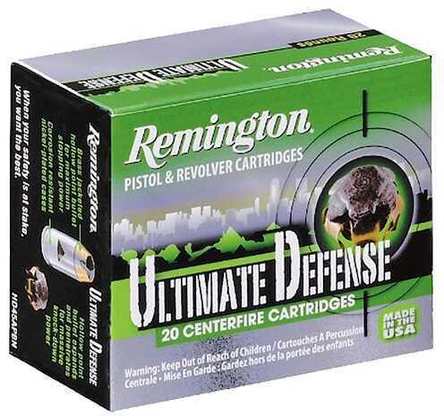 Remington Ultimate Defense 38 Special 125 Grain BJHP Nickel Plated (Per 20) HD38SBN
