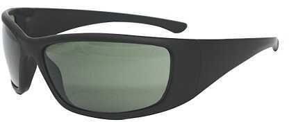 Radians Vengeance Shooting Glasses Black Soft Touch Frame Green Polarize Vg75Pbx